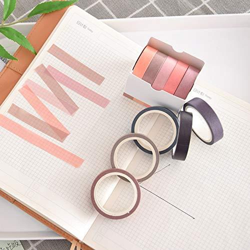 Einfarbiges Klebeband Und 5-Rollen-Klebeband, Leicht Zu Transportieren. Dekorative Aufkleber Können Papierbänder Zerreißen ()