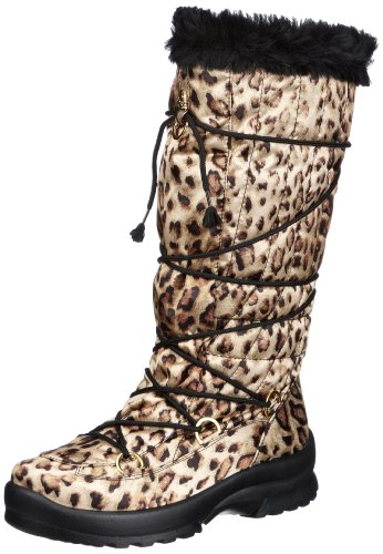 San Bernardo 02-6547-leo, Stivali da neve donna, Oro (Gold (leopard)), 36