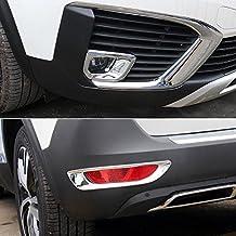 ABS cromo Niebla Delantera + trasera cubierta de la luz de 4 piezas para 5008 Active