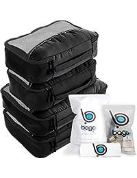 Cubos de embalaje valor establecido para viajes - 4 Organizador con documentos bolsa protectora