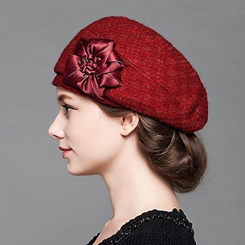 Dngy*Cap i bambini in autunno e in inverno lana beret