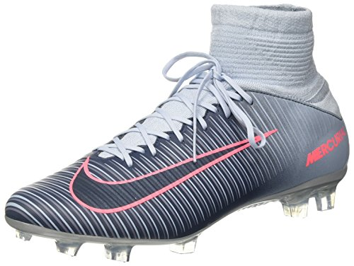 Nike Mercurial Veloce Iii Df Fg, Chaussures de Football Homme Bleu (Lt Armory Blue/armory Navy/armory Blue/hot Punch)