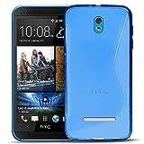 HTC Desire 500 Silikon Hülle Case in Blau Cover Desire 500