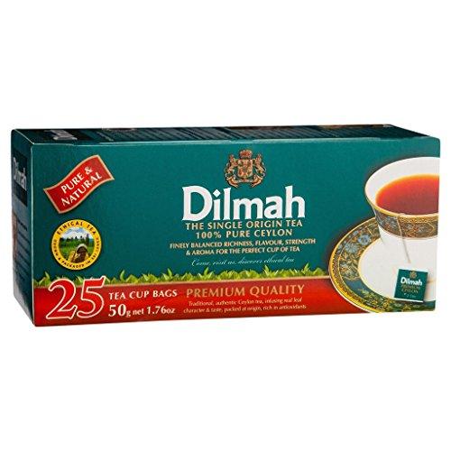 25 Tea Bags Pure Ceylon Premium Quality Single Origin Black Tea Dilmah 50g 1.7oz Sri Lanka
