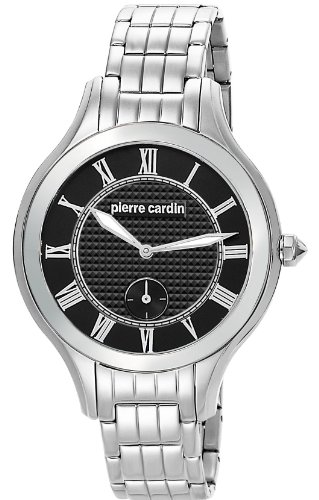 Pierre Cardin Premiere Chic Women's Quartz Watch with Black Dial Analogue Display and Silver Stainless Steel Bracelet PC105032F01