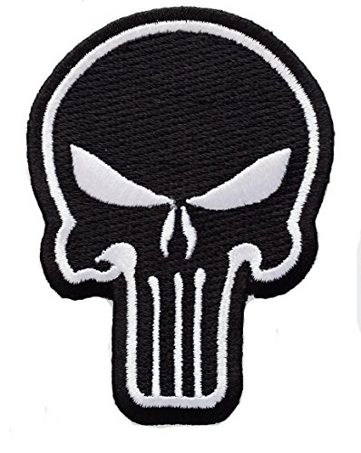 "Punisher Tactical Marvel Skull 3x 2.15"" Army Military Biker Rider Punk Rock Tatoo Biker Aufnaher Patch Sew Iron on"