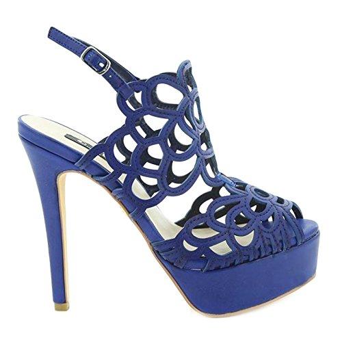 Toocool - Scarpe donna sandali traforati cinturino tacchi alti BLU Queen Helena S2415BL Blu