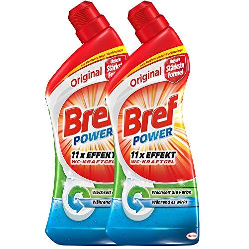 Bref Power WC-KraftGel Original, WC Reiniger für eine hygienische Sauberkeit (2 x 1l)