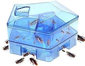 FreshDcart Reusable Plastic Trap Cockroach Catcher Box Pest Control Cockroach Trap Indoor Killer for Home Bathroom Kitchen Floor Drain Cleaner Natural