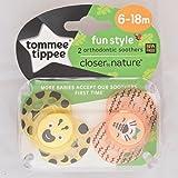 Tommee Tippee Closer To Nature Moda: 2 x Schnuller 6-18m (Gelb / Orange)