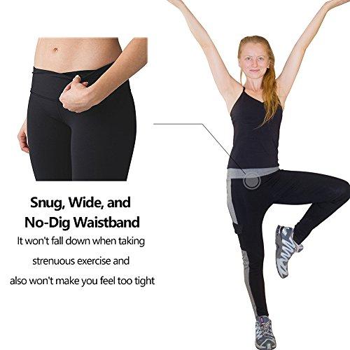 ABUSA Damen leggings Sport YOGA fitness Hosen Jogginghose Grau A137