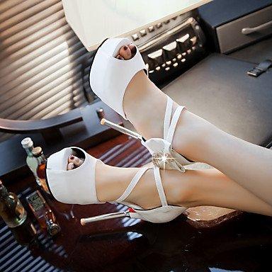schwarz vlies stöckelabsatz Weiß Festivität Kleid büro White Party Rot Lvyuan Damen andere sandalen amp; Pu 0B4Pg