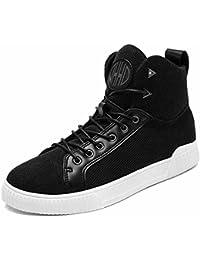 Hombre Hi-Top Sneakers 2017 Otoño Invierno Nuevo Zapatillas deportivas respirables para jóvenes Zapatos planos ocasionales ( Color : Black , Size : 41 )