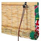 PENGFEI Tenda A Rullo Bamboo Tapparella Cortina di bambù Memorizzare Gioielli Appesi Canna Tendina Parasole, Stile di Fattoria, 3 Colori, Dimensioni Personalizzate