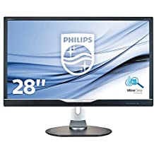 """Philips Monitores 288P6LJEB/00 - Monitor de 28"""" (resolución 3840 x 2160 pixels, tecnología WLED, contraste 1000:1, 1 ms, HDMI), color negro"""