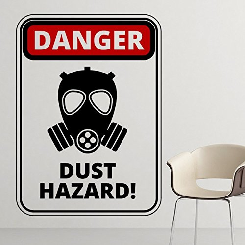 DIYthinker Maske Gefahr, Symbol, Luftverschmutzung Staub Hazard Gas Warnzeichen Abbildung Haze PM2.5 Umweltschutz-Themen entfernbarer Wand-Aufkleber-Kunst-Abziehbilder Wand- ()
