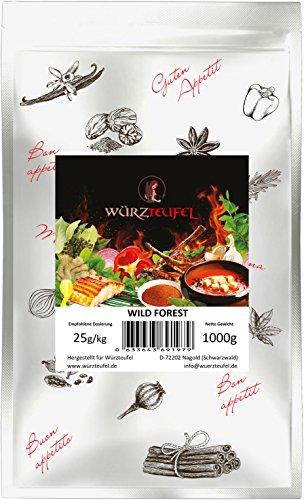 Wild Forest, Grill – Gewürz, feinstes BBQ Gourmet Grillgewürz, Bratengewürz für Wild & Lamm. Beutel 1000g. (1KG).