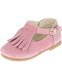 La Vogue Zapatos Niña Zapatilla Princesa Borla Fiesta