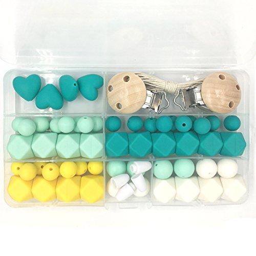 coskiss-bebe-teether-juguetes-silicona-denticion-kit-geometrico-hexagono-silicona-de-madera-de-perla