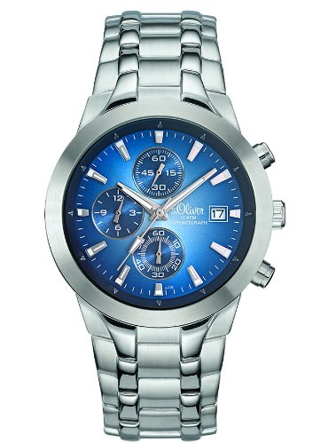 s.Oliver SO-1673-MC- - Reloj unisex de cuarzo color plata