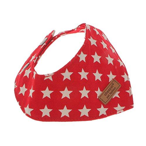 Homyl Hundehalstuch Dreieckstuch Katzenhalsband Haustier Halsband Halstuch für Hunde Katze und Welpen, Größen Auswählen - Rot, S