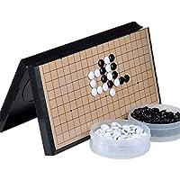 Gobus Go Chess Juego de Juegos de ajedrez Go Juego de Juegos de Piedras Plegables de plástico Adhesivo para niños Juegos para Principiantes y Jugadores de ajedrez (11.2 x 11.2 Pulgadas)