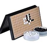 Gobus Go Chess Juego de ajedrez Juego Juego de mesa plegable Tablero de ajedrez magnético Piedras de plástico magnéticas Juegos de viaje para niños Principiantes y jugadores de ajedrez ( 11.2 x 11.2 pulgadas )