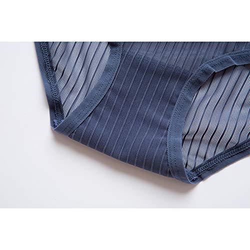 Haodou String mit Spitze Damen Unterhose Unterwäsche Reizvolle Wäsche durchsichtige Tanga G-Schnur Schlüpfer Damenwäsche Dessous (Blau-M) - 5