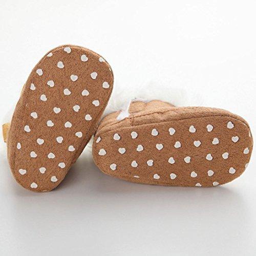 Clode® Kleinkind Baby Mädchen Warm Halten Bogen Schneestiefel Weiche Sohlen Krippe Schuhe Stiefel Winterstiefel Brown