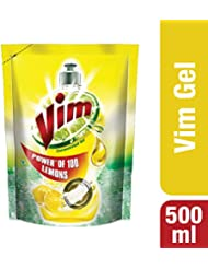 Vim Dishwash Liquid, Lemon - 500 ml