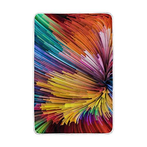 CPYang Dynamic Rainbow Color Series Überwurfdecke, weich, warm, Mikrofaser, für Erwachsene, Mädchen, Jungen, Kinder, 152 x 229 cm - Rainbow Dynamic-serie