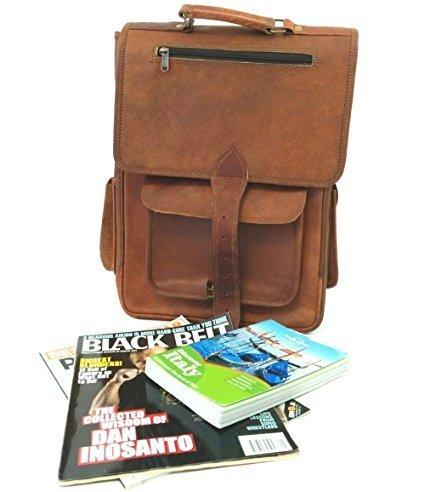 Spot On Handgefertigt Echtes Leder Rucksack Laptop Tasche für Herren Damen Rucksack Rucksack - Handgefertigtes Leder-rucksäcke