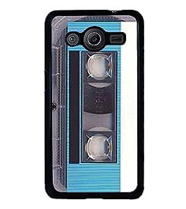 Fuson Vintage Blue Cassette Designer Back Case Cover for Samsung Galaxy Core 2 G355H :: Samsung Galaxy Core Ii :: Samsung Galaxy Core 2 Dual (Parish Wonder Vintage Eiffel Tower Car Bike Scooter Cassette Coffee)