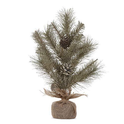Napco Imports Künstlicher Weihnachtsbaum-Deko, Kiefernholz, 45,7 cm, champagnerfarben