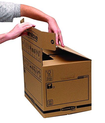 Bankers Box Umzugsbox SmoothMove klein (aus 100% recyceltem Karton, 10er Packung) braun - 7