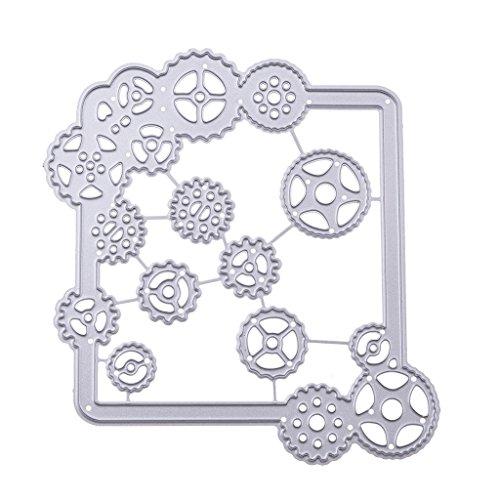 Hothap Schöne Muster Getriebe Stanzformen Schablone Für DIY Scrapbooking Präge Album Papier Karte Handwerk