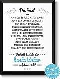 Bester Vater - Bild mit liebevoller Danksagung optional mit Rahmen & Personalisierung - Geschenkidee Geburtstag Weihnachten Papa