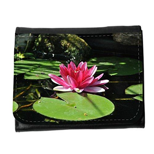 Portemonnaie Geldbörse Brieftasche // M00313450 Wasser-Lilien-Teich Wasserpflanze Rosa // Small Size Wallet