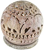 Zap Impex Schön Escultura de piedra de vela portavelas con geschnitzter elefante figuras decorativa...