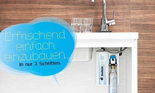 Sprudel aus dem Wasserhahn! Untertisch-Trinkwassersprudler BubbleBox inkl. 1-Weg-Zusatzarmatur MORA und Anschluss-Set. Macht das Leben einfach prickelnder! Bubble Box -