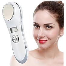 Masajeador facial anti-arrugas y relaja la cara con vibración de alta frecuencia con una temperatura desde 5 a 42 grados, dispositivo cosmético de la radiofrecuencia microinfluenza de ION para el trat