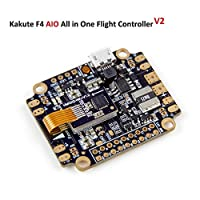 Kakute AIO F4 Flight Controller (V2) Integrated PDB , Betaflight OSD , BEC ( 6-axis Gyro , 120A Maximum Continuous Current , Input voltage 7v-42v ) for PFV Racing RC Drone Quadcopter by LITEBEE