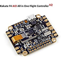 Kakute AIO F4 Controladora De Vuelo Integrado PDB , Betaflight OSD , BEC Flight Controller ( 120A Maximum Continuous Current , Input voltage 7v-42v ) for PFV Racing RC Drone Quadcopter by LITEBEE