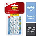 Command 17026CLR-VP Decoration Clips for Christmas and Fairy Light - Clear, Value Pack