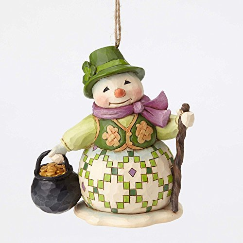 Creek Irish Snowman Pot of Gold Christmas Ornament 4053841 by Enesco (Irish Christmas Ornamente)