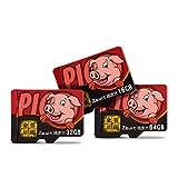 DZSF 16/32/64/128 / 512GB Micro SD Card Scheda di Memoria Videoregistratore HD Monitoraggio Videotelefono SDXC ad Alta velocità Classe 10 UHS-I (P-SDX64U395-GE) (1 PZ),512GB