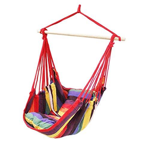 apricis-Hamac-chaise-Swing–suspendre-avec-deux-coussins-espaces-864-cm-assise-large-convient-pour-tout-usage-intrieur-ou-extrieur-le-poids-maximum-Roulement-265lb