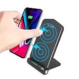 Haissky Fast Wireless Charger, 10W Qi Ladegerät Schnellladegerät Induktion Ladegerät für iPhone X / 8/8 Plus,Samsung Galaxy Note 8/7 / S8 Plus / S8 / S7 Edge / S6 Edge Plus und Alle Qi Fähige Gerät