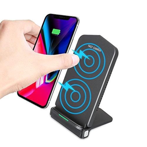 Fast Wireless Charger, HAISSKY 10W Qi Ladegerät Schnellladegerät Induktion Ladegerät für iPhone X / 8/8 Plus ,Samsung Galaxy Note 8 / 7 / S8 Plus / S8 / S7 Edge / S6 Edge Plus und alle Qi Fähige Gerät