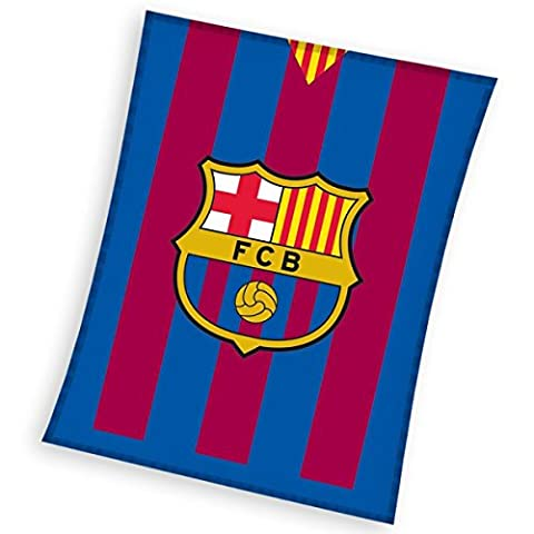 FC Barcelona plaid couverture polaire 110x140 cm Fleece Blanket idée déco Champions Club Football FC Barcelone